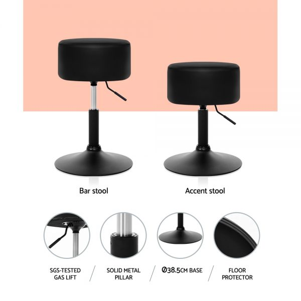 BA-K-0732-PD-BKX2: Makeup Chairs & Stools. The Makeup Mirror Co. | AfterPay Today | Free Shipping
