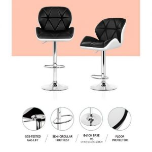 BA-K-717A-BK-WHX2: Makeup Chairs & Stools. The Makeup Mirror Co. | AfterPay Today | Free Shipping