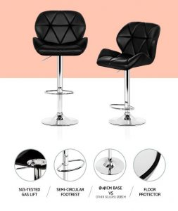BA-K-717A-BKX2: Makeup Chairs & Stools. The Makeup Mirror Co. | AfterPay Today | Free Shipping