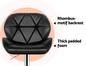 BA-K-717A-BKX2: Makeup Chairs & Stools. The Makeup Mirror Co.   AfterPay Today   Free Shipping