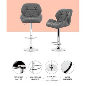 BA-K-717A-GYX2: Makeup Chairs & Stools. The Makeup Mirror Co. | AfterPay Today | Free Shipping