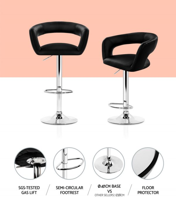 BA-TW-NEWT328G-BKX2: Makeup Chairs & Stools. The Makeup Mirror Co. | AfterPay Today | Free Shipping