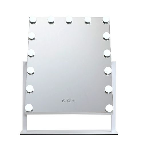 MM-E-STAND-4050-WH: Hollywood Makeup Mirror with Lights. The Makeup Mirror Co.   AfterPay Today   Free Shipping