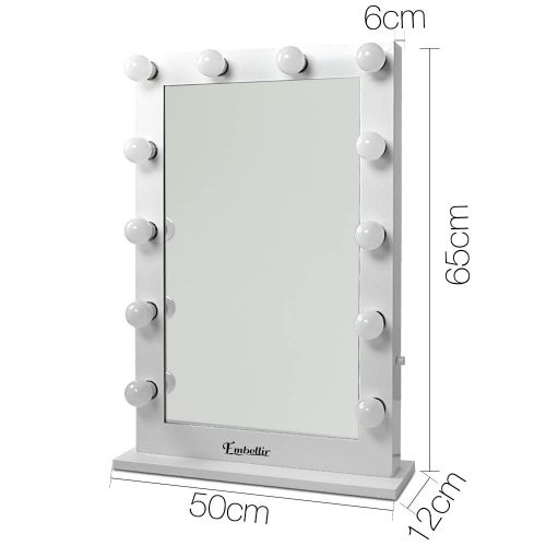 MM-FRAME-6550-WH: Hollywood Makeup Mirror with Lights. The Makeup Mirror Co.   AfterPay Today   Free Shipping