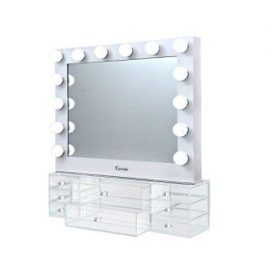 MM-FRAME-6580DW-WH-AB: Hollywood Makeup Mirror with Lights & Vanity Unit. The Makeup Mirror Co. | AfterPay Today | Free Shipping