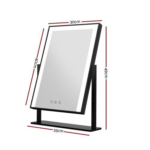 MM-STAND-3040LED-BK: LED Makeup Mirror with Lights. The Makeup Mirror Co.   AfterPay Today   Free Shipping