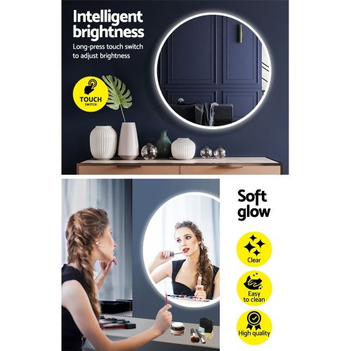 MM-WALL-ROU-LED-70: LED Makeup Mirror With Lights. The Makeup Mirror Co. | AfterPay Today | Free Shipping