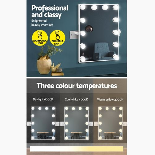 MM-WMOUNT-3040-WH: Hollywood Makeup Mirror With Lights. The Makeup Mirror Co. | AfterPay Today | Free Shipping