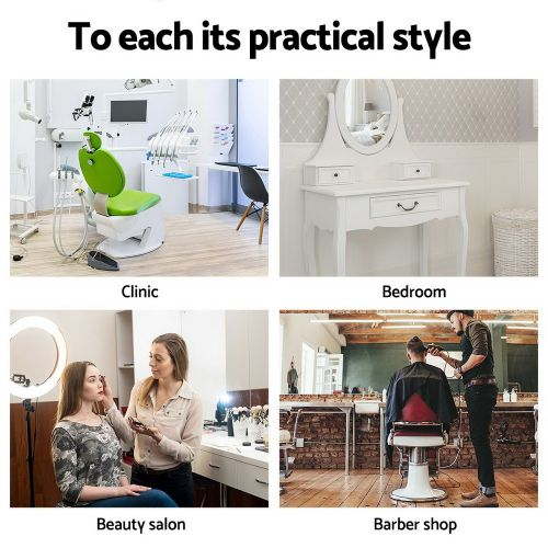 SALON-ERG-BK: Salon Stool: Makeup Chairs & Stools. The Makeup Mirror Co. | AfterPay Today | Free Shipping
