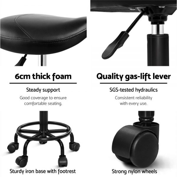 SALON-ERG-NEW-BK: Makeup Chairs & Stools. The Makeup Mirror Co.   AfterPay Today   Free Shipping