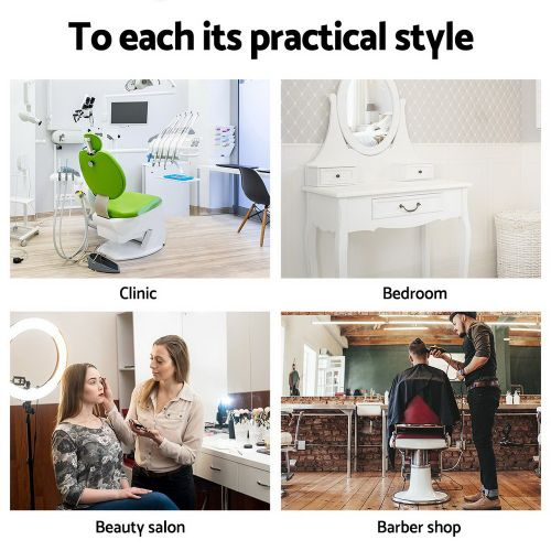 SALON-ERG-WH Salon Stool: Makeup Chairs & Stools. The Makeup Mirror Co. | AfterPay Today | Free Shipping