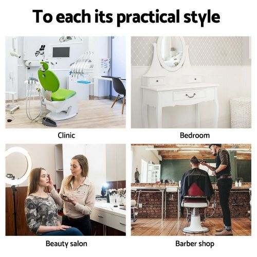SALON-RD-BK Salon Stool: Makeup Chairs & Stools. The Makeup Mirror Co.   AfterPay Today   Free Shipping