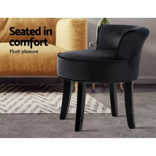 UPHO-C-DAVE-BK: Makeup Chairs & Stools. The Makeup Mirror Co. | AfterPay Today | Free Shipping