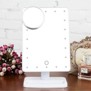 20 Led Light Make Up Cosmetic Mirror W/ 10X Magnification Battery Power White - Makeup Mirror Co. Australia