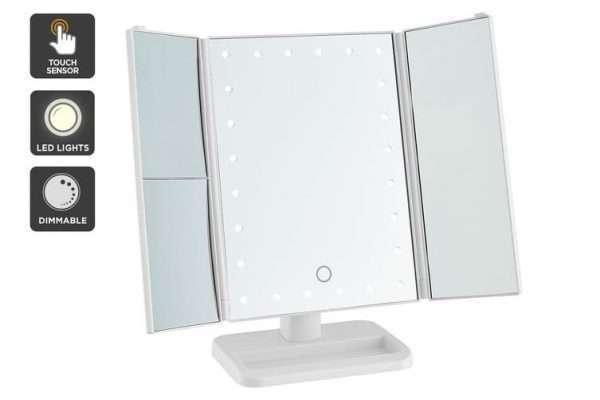 Ovela Fold Out Hollywood Makeup Mirror (White) - Makeup Mirror Co. Australia