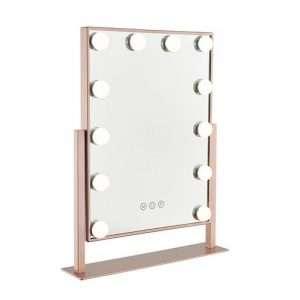Ovela Hollywood Makeup Mirror Illuminated Light (Rose Gold) - Makeup Mirror Co. Australia