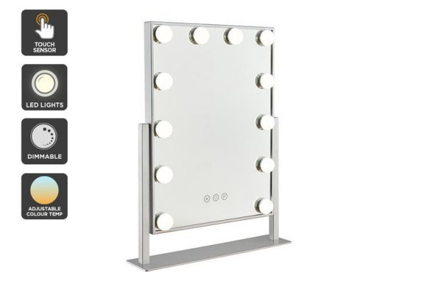 Ovela Hollywood Makeup Mirror Illuminated Light (Silver) - Makeup Mirror Co. Australia