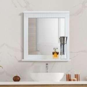 Ovela Olivia Bathroom Mirror (White) - Makeup Mirror Co. Australia